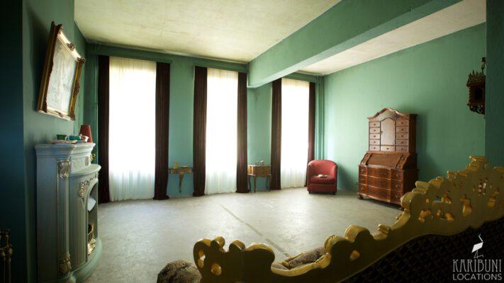 Barock Kaminzimmer - Totale mit Fenstern 2
