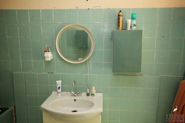 Omas Badezimmer - Waschbecken und Spiegel