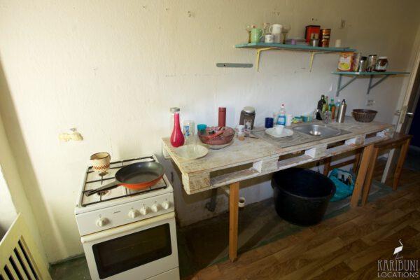 Omas Küche - Anrichte mit Herd